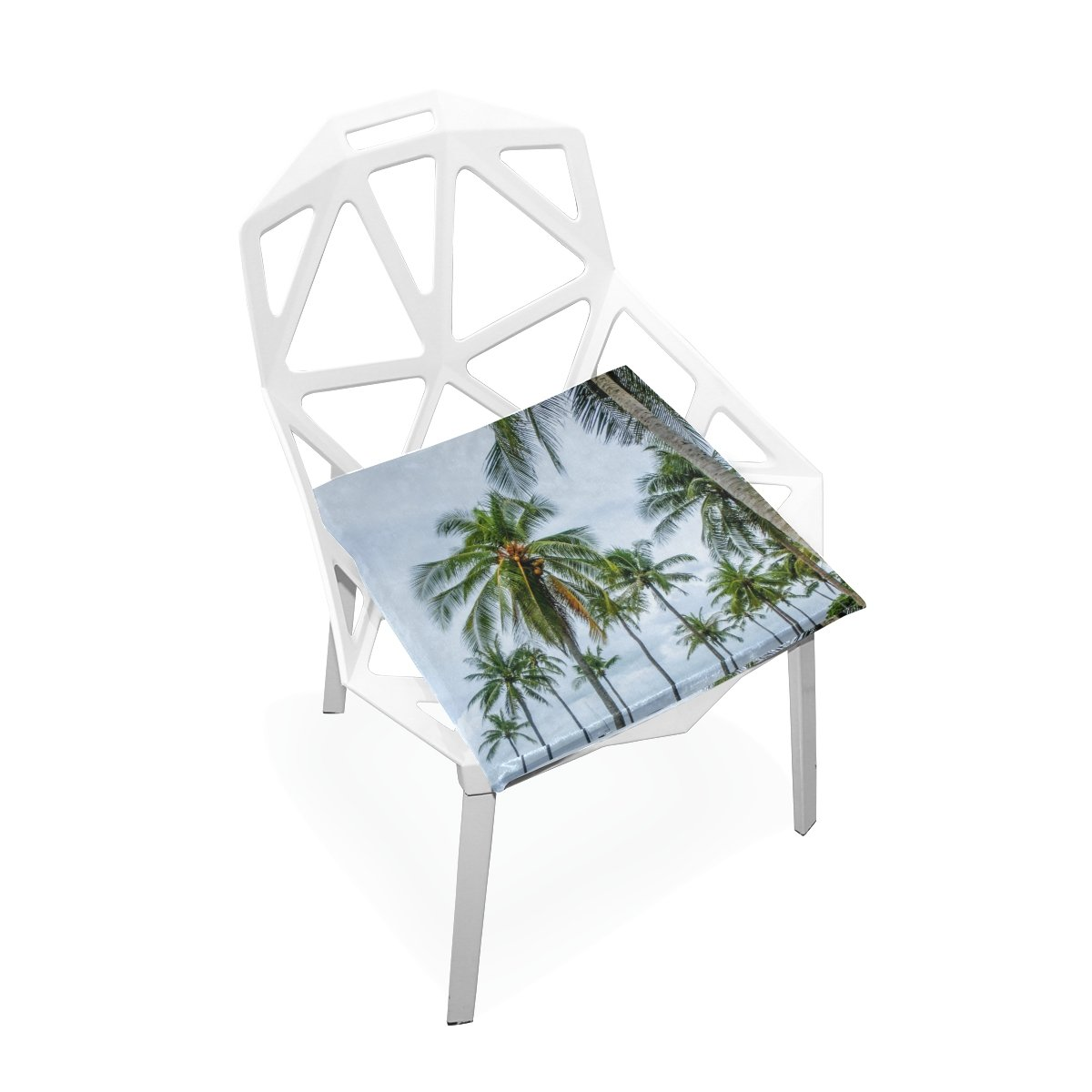 TSWEETHOME Comfort Memory Foam Square Chair Cushion Seat Cushion with Thai Summer Landscape Chair Pads for Hardwood Floors Dining Chairs Office Chairs by TSWEETHOME