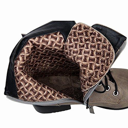Mee Shoes Damen Niedrig kurzschaft spitz Stiefel Grau
