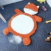 Lzttyee Cartoon Plush Stuffed Animals Kids Playing Mats Floor Cushion Game Rugs Crawling Mat Toy for Sleeping Afternoon Nap (Fox)