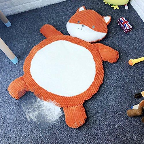 Lzttyee Cartoon Plush Stuffed Animals Kids Playing Mats Floor Cushion Game Rugs Crawling Mat Toy for Sleeping Afternoon Nap (Fox) ()