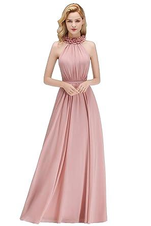 Berühmt Damen Elegant Neckholder Chiffon Abendkleid Ballkleid Festlich @DW_71