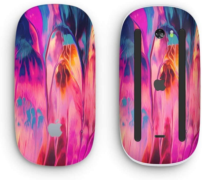 Wireless, Rechargable with Multi-Touch Surface Blurred Abstract Flow V24 Design Skinz Premium Vinyl Decal for The Apple Magic Mouse 2