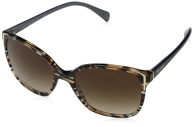 Prada 0PR01OS CO56S1 55 Gafas de sol, Azul (Havana/Ears Avio ...