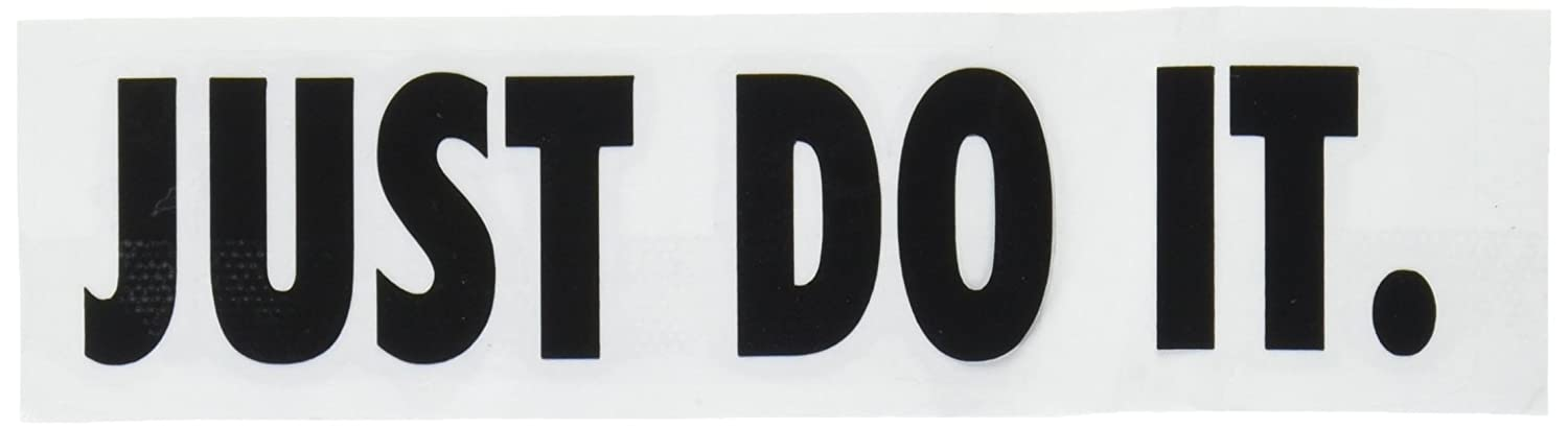 Nike Just Do It Logo Vinyl Sticker Decal Black 4 Inch