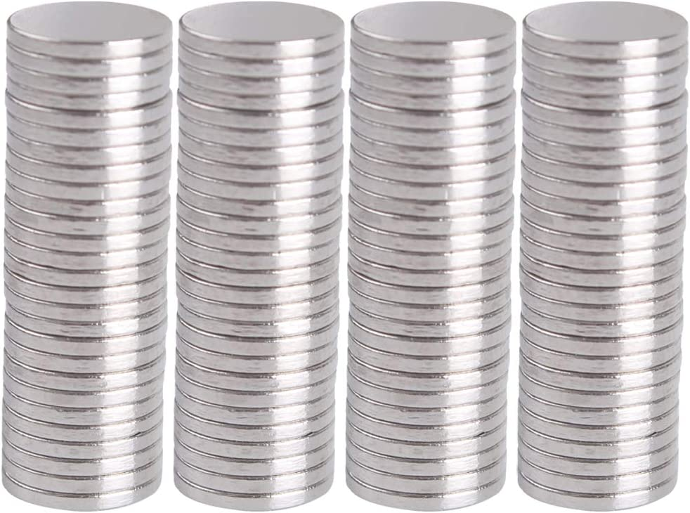 WARMBUY 100Pcs Round Magnets for Fridge, Office, Dry Erase Board, Refrigerator, Whiteboard, Map