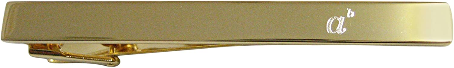 Gold Toned Etched Mathematical A to the Power of B Square Tie Clip