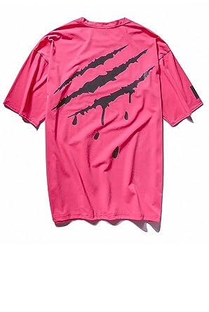 Amazon メンズ tシャツ 半袖 爪 イラスト ロゴ シンプル おしゃれ
