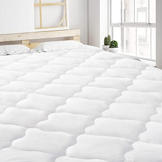 Cooling Matress Pad Hypoallergenic Quilted Fitted Mattress Topper Breathable New