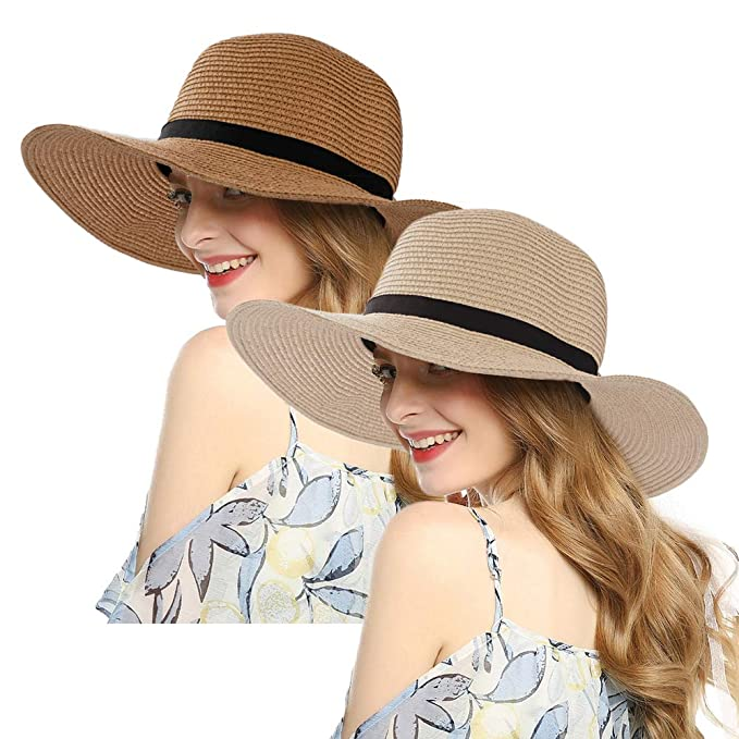 3913281235ccd Image Unavailable. Image not available for. Color  Women Wide Brim Sun Hat