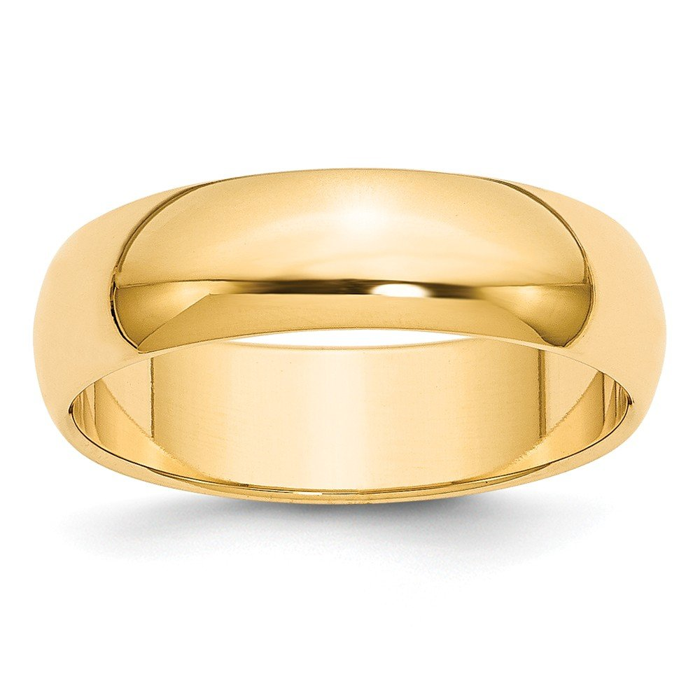 Best Designer Jewelry 14k 6mm Half-Round Wedding Band