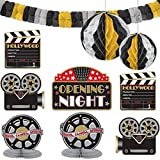 Amscan Hollywood Movie Themed Party Decorating Kit (10 Piece), Black/Gold/Silver, 15.5 x 10.8""
