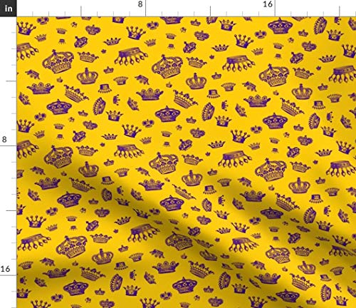 Spoonflower Royal Fabric - Royal Crowns Queen