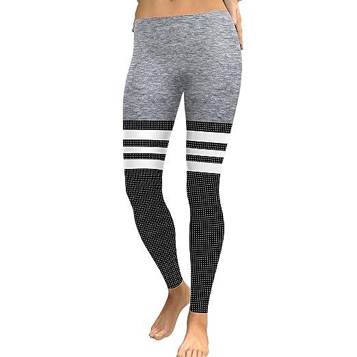3c585737d43b8 Ensasa Women's Rainbow Stripe Leggings Pants, Spring Summer Neon Printed  High Waist Stretch Tights (