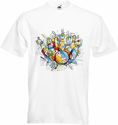 T-Shirt Camiseta Remera Torneo de Bolos Bowling Bowling Bola ...