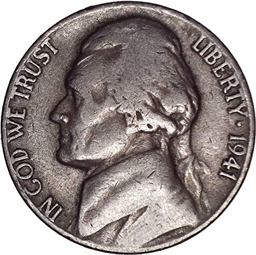 Gem Ms63 - 1941 Jefferson Nickel 5C Very Fine