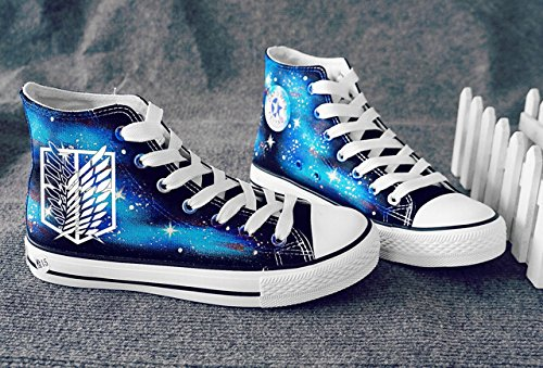 Attack on Titan Shingeki No Kyojin Wings of Freedom Cosplay Shoes Canvas Shoes  Sneakers Luminous e4c8bbf2c