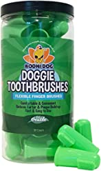 New Gentle Disposable Dog Toothbrushes   Soft High Grade Finger Toothbrush with Silicone Bristles for Pet Dental & Oral Care Teeth & Gums   Bulk Container 50 Pack