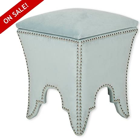 Upholstered Ottoman Cube With Storage Cube Footrest Small Wood And Fabric  Low Seating Space Saver Contemporary