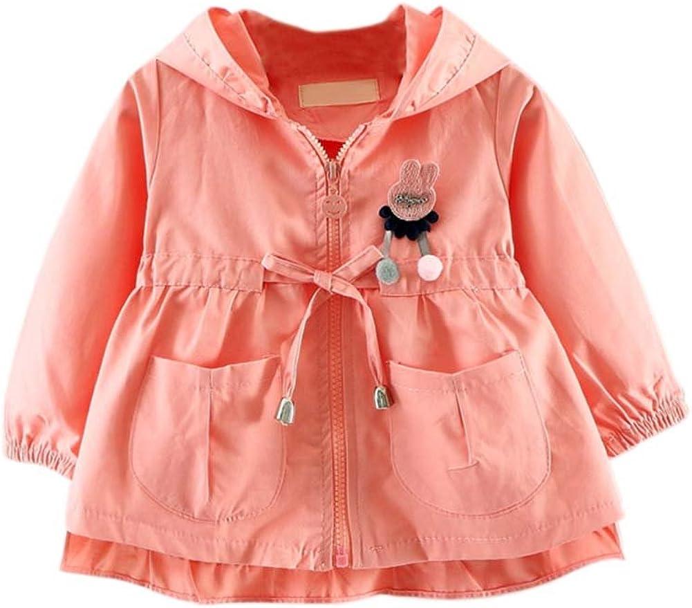 TAIYCYXGAN Baby Girls Princess Zipper Jacket Coat Autumn Trench Coat Outwear Windbreaker Pockets