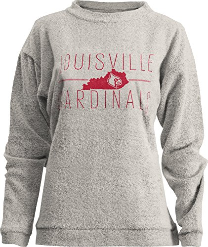 Three Square by Royce Apparel NCAA Louisville Cardinals Comfy Terry Sweatshirt, X-Large, ()