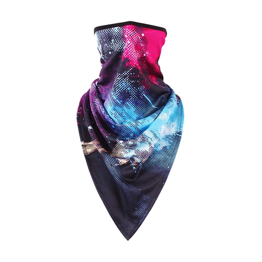 WSYHXMMask Sun Protection Visor Outdoor Riding Men and Women Ice Silk Full Face Fishing Anti-UV Windproof Sunscreen Sunscreen Mask Gini Outdoor Balaclava mask (Pattern : Painting)