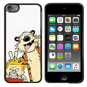 Tiger Y Muchacho- Metal de aluminio y de plástico duro Caja del teléfono - Negro - iPod Touch 6