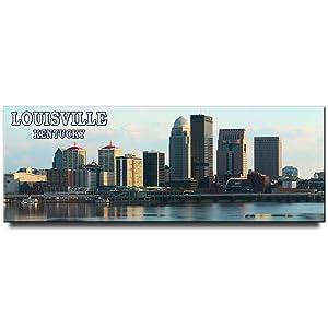 Louisville panoramic fridge magnet Kentucky travel souvenir