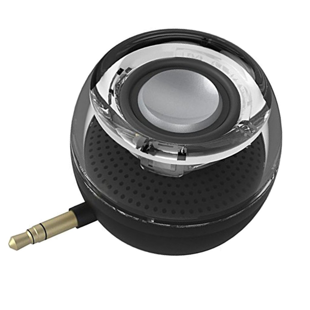 Fenteer Portable Mini Line-in Wireless Speaker for Any Devices w/ jack Port Black Plug &Play