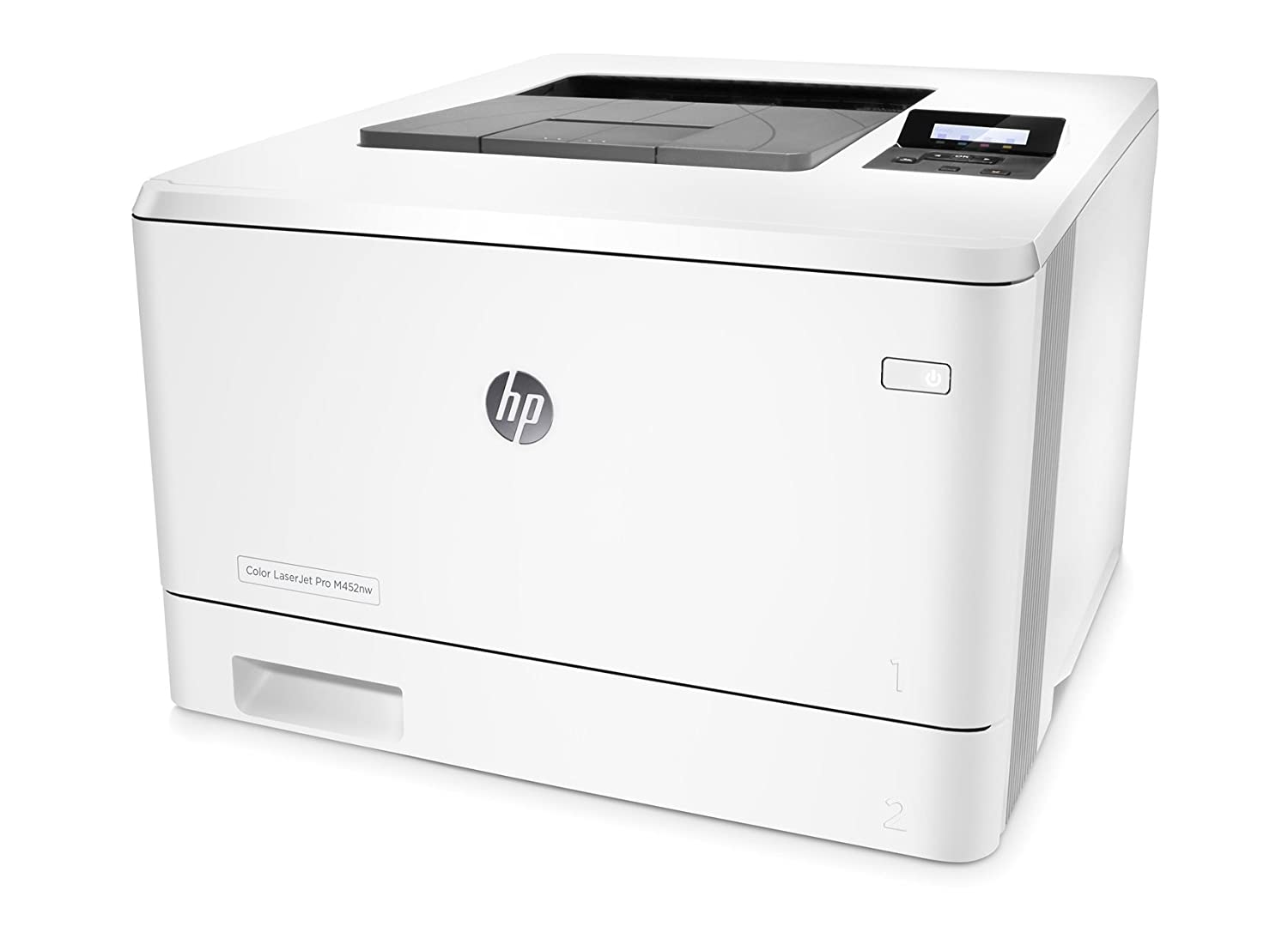 HP Color LaserJet Pro M452nw - Impresora láser a color (A4, hasta 27 ppm, 750 a 4000 páginas al mes, USB 2.0 alta velocidad, Red Gigabit Ethernet ...