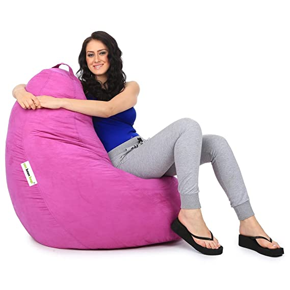 Can bean bags Suede XXL Bean Bag Cover Without Beans   Light Purple