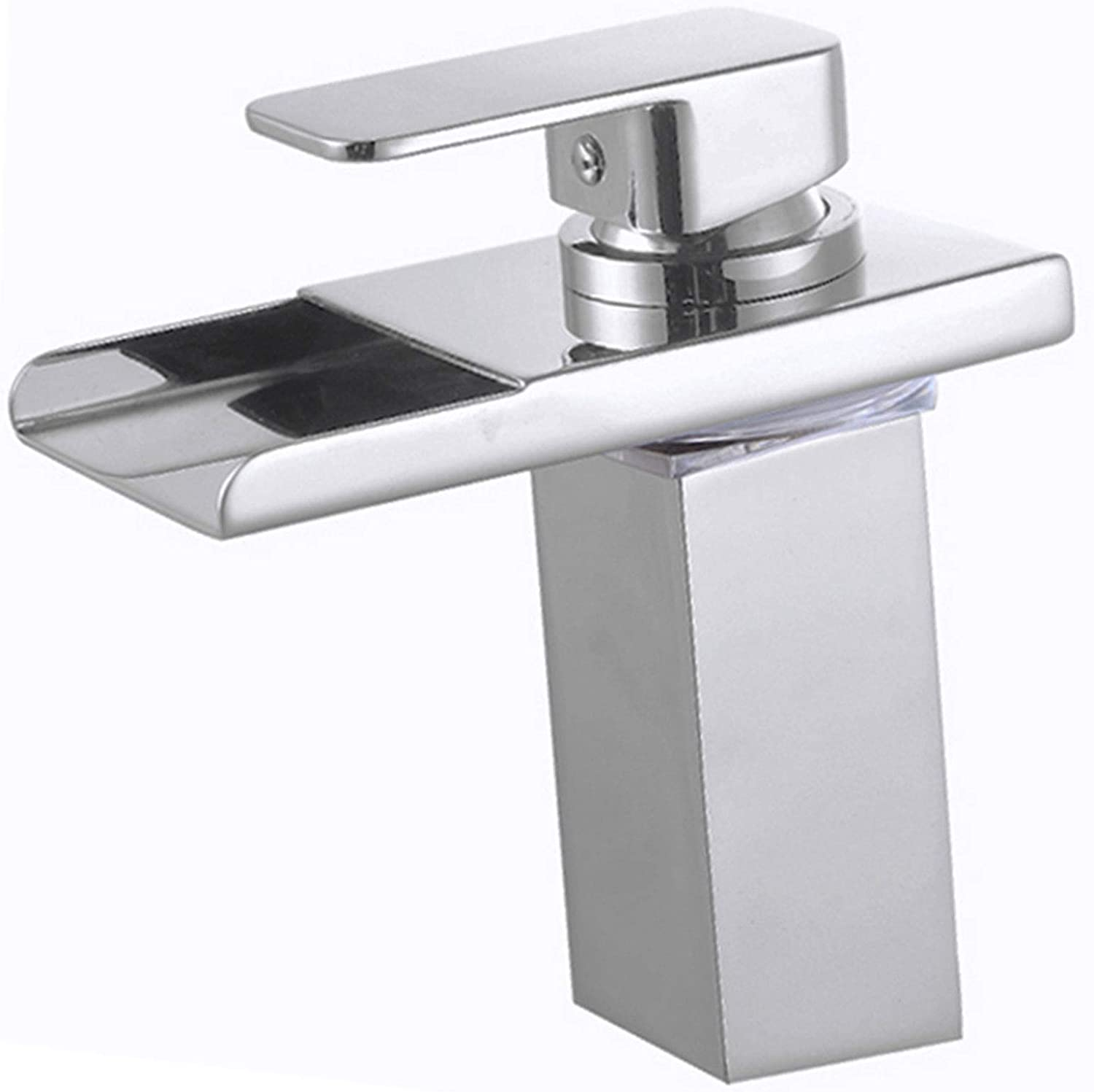 Brushed Nickel Basin Faucet Single Handle /& Hole Waterfall Spout Sink Mixer Taps