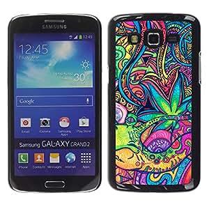MOBMART Carcasa Funda Case Cover Armor Shell PARA Samsung Galaxy Grand 2 - Arabian Lights