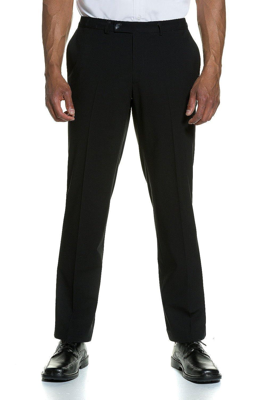 JP1880 Men's Big & Tall Comfort Waist Pants Black 56 705516 10-56