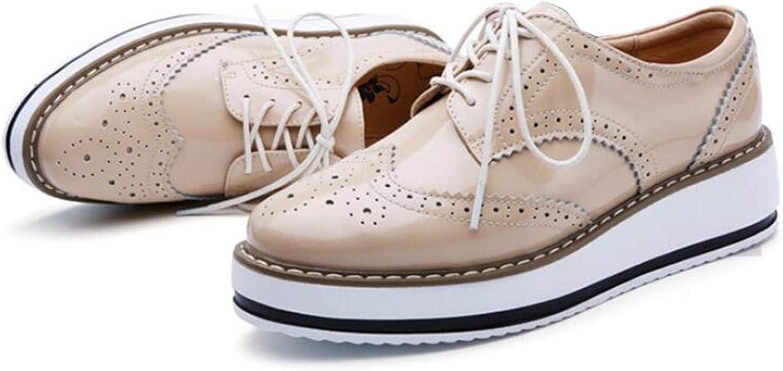 PPXID Womens Platform Wedge Oxfords Brogue Shoe