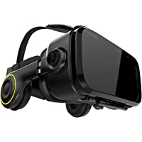 Hi-SHOCK Premium VR Glasses - X4 - okulary do gier dla zabawy 3D - VR Box z wbudowanymi słuchawkami dla 4.7-6.1 Android…