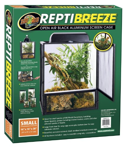 61ptlFz59aL - Zoo Med ReptiBreeze Open Air Screen Cage, Small, 16 x 16 x 20-Inches