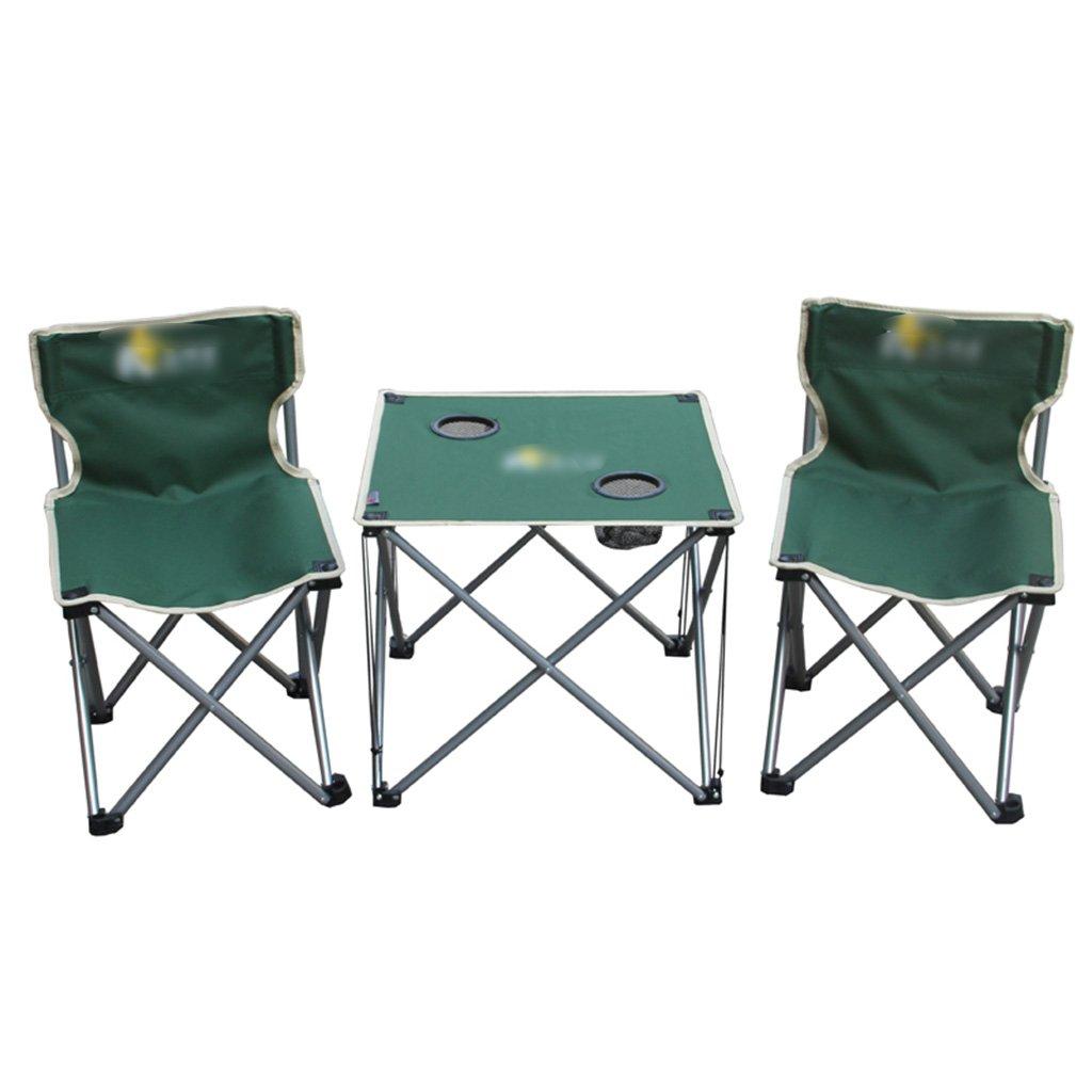 ZGL 旅行椅子 屋外折りたたみテーブルと椅子3つのセットの緑単純な折りたたみテーブルと椅子の色オプション ( 色 : 緑 ) B07C77CF1R 緑 緑