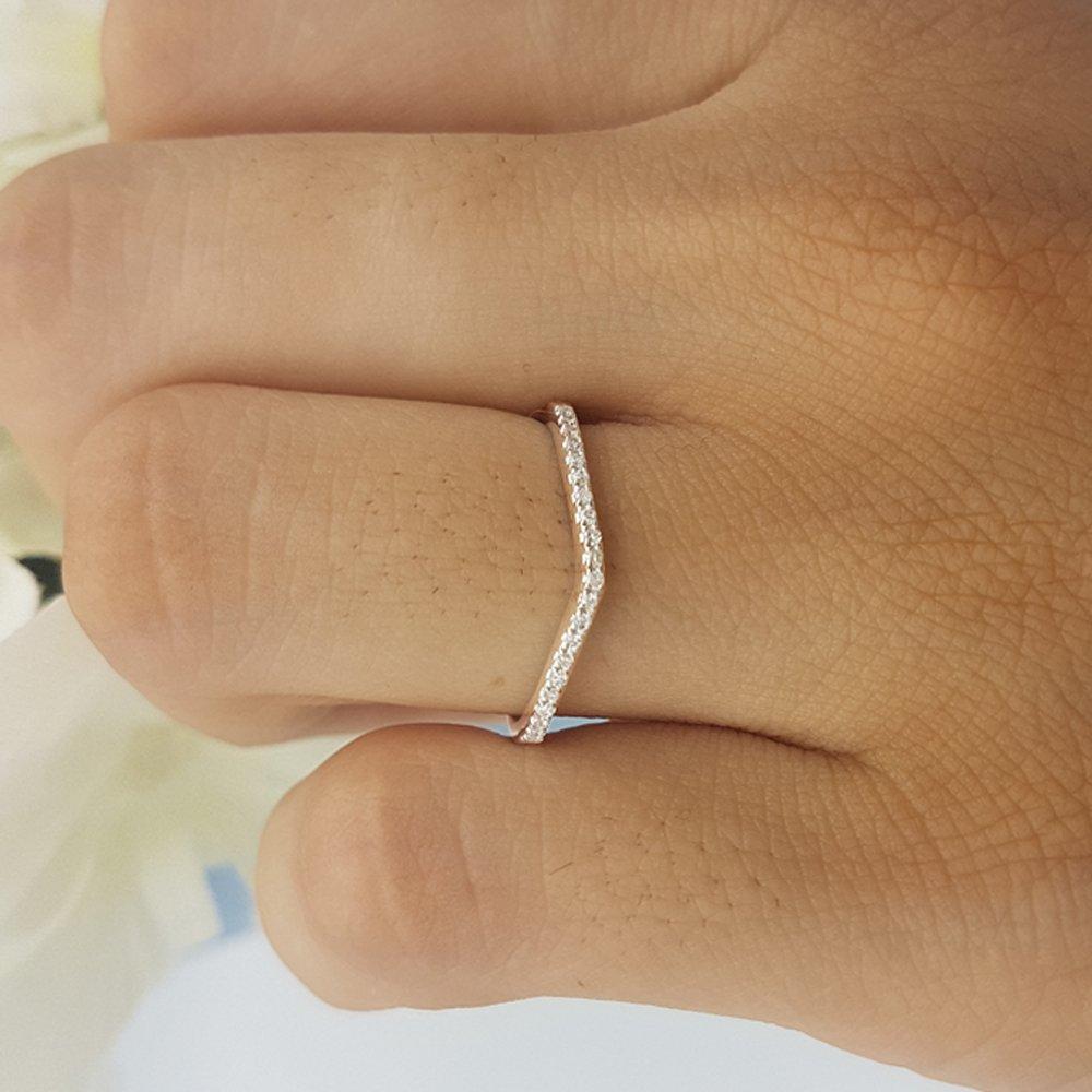ctw 14K Gold Round Cut White Diamond Ladies Anniversary Wedding Stackable Band 1//5 CT 0.20 Carat