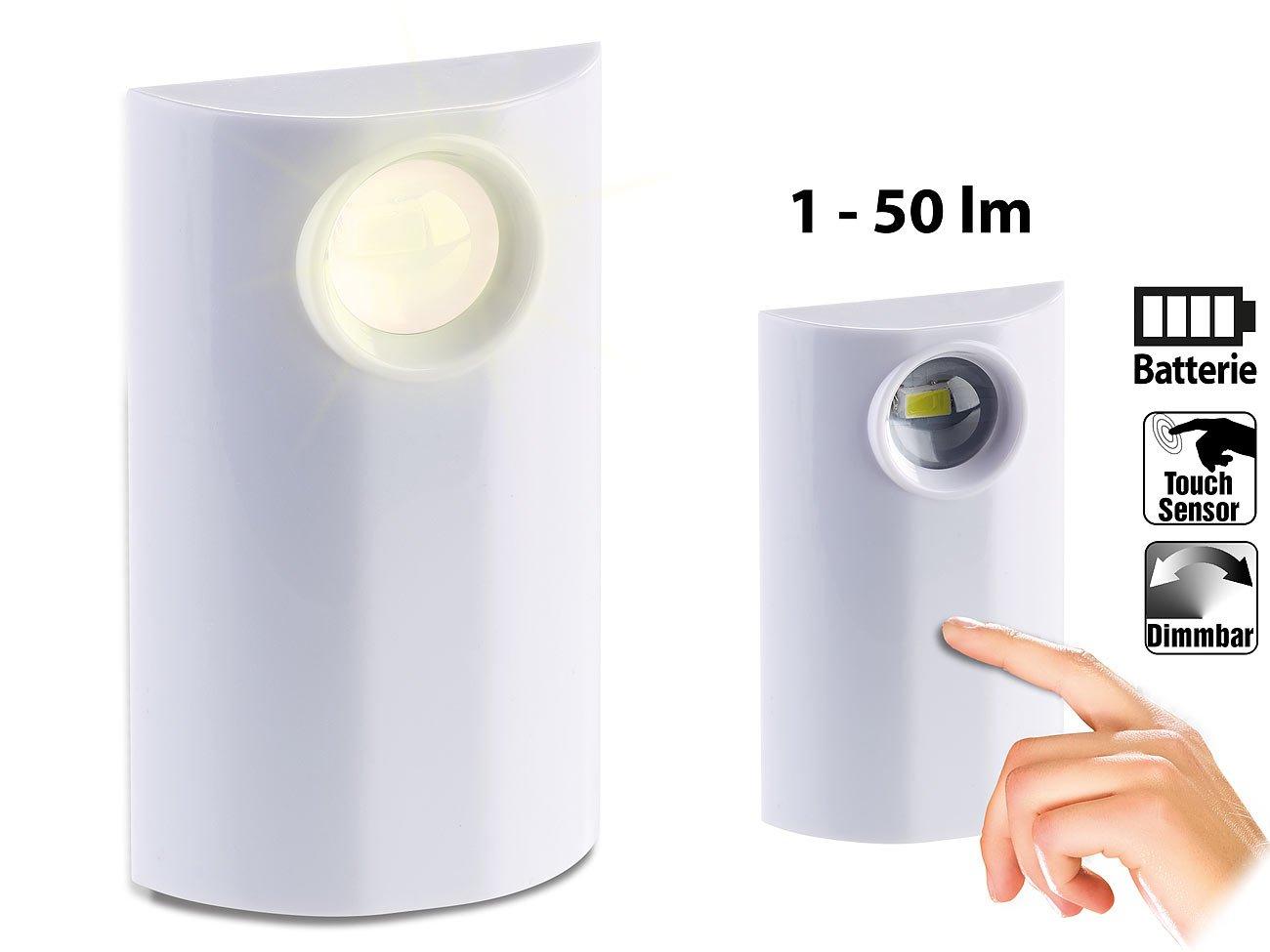 PEARL LED Lampe Batterie: Helle LED-Lampe mit Batteriebetrieb, Touch ...