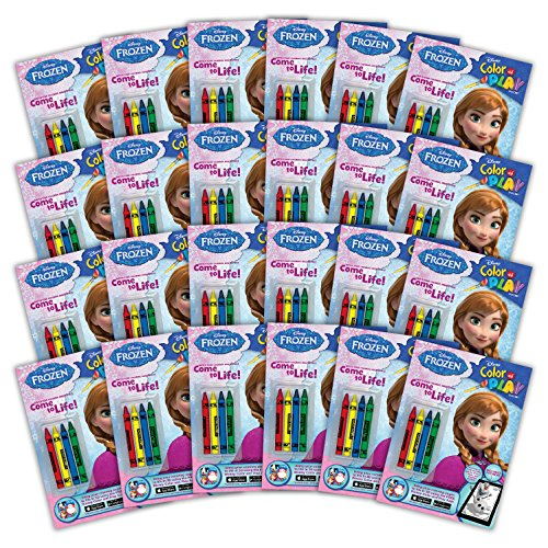 Bendon 42551-Amzb Disney Frozen 32-Page Color and Play Activity Book with Crayons and Stickers (24-Count)