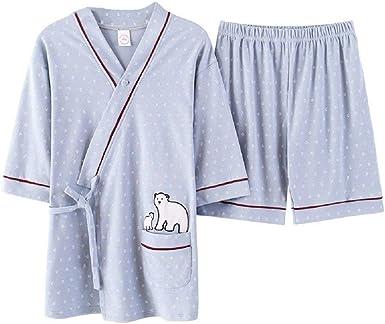Pijamas para Mujer Verano Un Nuevo Traje De Ropa Algodón De Verano para Pijamas En Casa De Dormir De Pijama De Manga Corta: Amazon.es: Ropa y accesorios