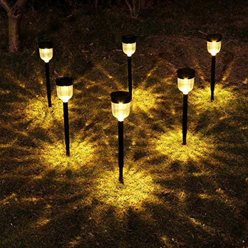 Solar Lights Outdoor, YUNLIGHTS 6 Pack Solar Pathway Lights Garden...