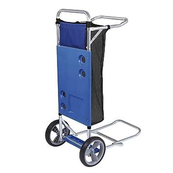 MOR Carro de playa con extensión para refrigerador y red de carga