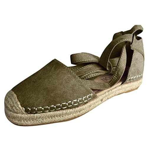 0fe0da916675e Amazon.com: Veodhekai Women Flats Shoes Lace-Up Chunky Holiday ...