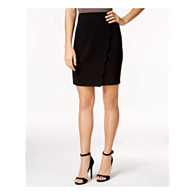 A. Byer Junior's Scalloped Overlap Fitted Skirt at Women's Clothing store