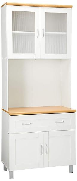 Hodedah Hikf92 Import Kitchen Cabinet White Amazon Ca Home Kitchen