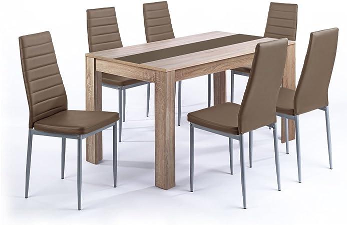 Pegasus cuisine ou salle à manger ensemble table et 6