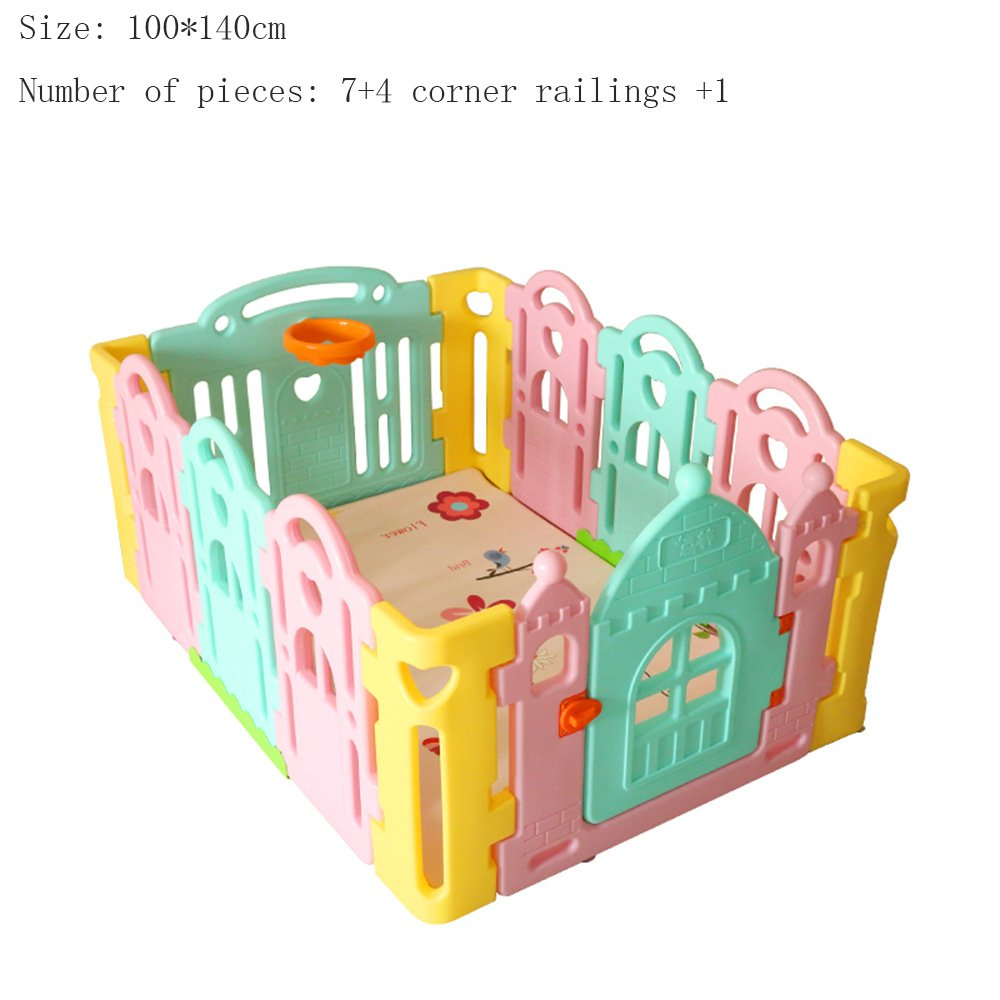 XIAOLIN ゲームフェンス子供安全フェンス折りたたみ式屋内屋外セキュリティゲームフェンス、ルームクラップボード (サイズ さいず : 100 * 140cm) 100*140cm  B07FP58ZCJ