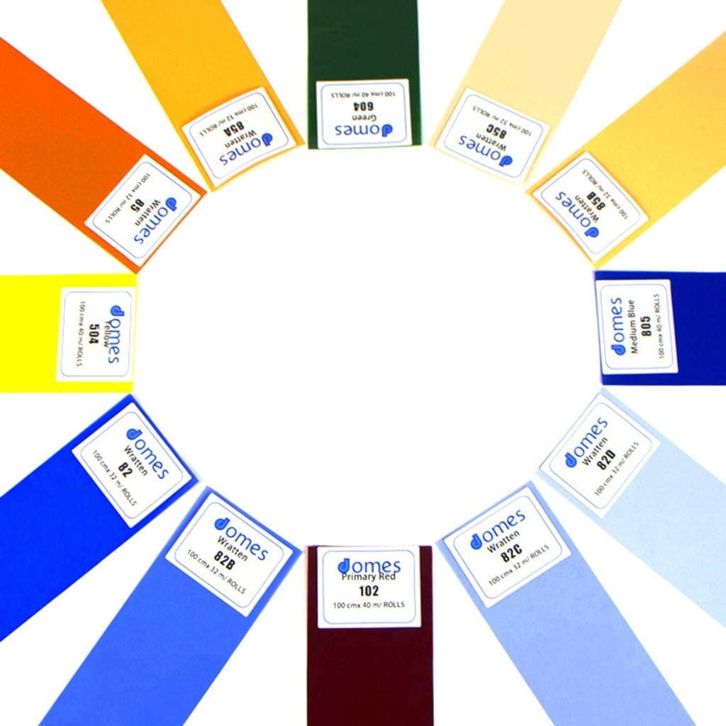 40x50cm Transparent Color Correction Lighting Film Plastic Sheets Gazechimp Universal Gels Lighting Filter Kit for Camcorder LED Video Light Yellow