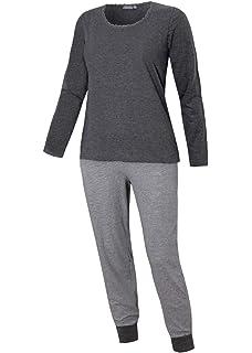 669cc210e93b81 Damen Schlafanzug lang in verschiedenen Ausführungen Pyjama Langarm Langer  Übergrösse Nachtanzug Hausanzug Damenschlafanzug weich und warm
